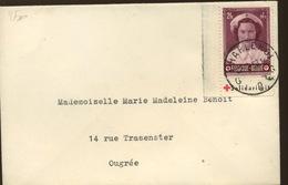 Belgique Croix Rouge 914  Ex Carnet Sur Lettre - Belgique