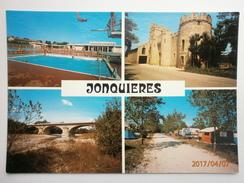 Postcard Jonquieres Multiview La Piscine Chateau Pecoulette Pont De Beauregard Le Camping   My Ref B2921 - France