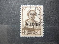 Vilnius Lietuva Litauen Lituanie Litouwen Lithuania Used 1941 Mi. 15 - Lithuania