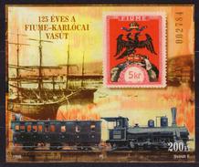 Hungary Ungarn - 1998 - FIUME - KARLOVAC - Train Railway - Philatelist Memorial Sheet - Feuillets Souvenir