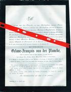Oostcamp: Décès De Octave  François Van Der PLANCKE -1881. - Todesanzeige