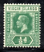R1455 - BRITISH VIRGIN ISLANDS , 1/2 Penny Wmk Multi Script CA * Gibbons N. 80 - British Virgin Islands