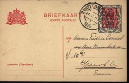 Hollande Pays Bas Entier Rouge Style YT 51 Wilhelmine 5 Cts Surchargé  Nederland Twaalf Eneen Halve Cent 12 - Postal Stationery