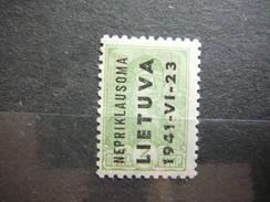 Nepriklausoma Lietuva Litauen Lituanie Litouwen Lithuania MH 1941 Mi. 1 - Litouwen