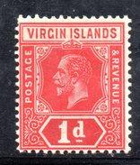 R1456 - BRITISH VIRGIN ISLANDS , 1 Penny Wmk Multi Script CA * Gibbons N. 81 - British Virgin Islands