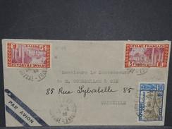 FRANCE / GUYANE - Enveloppe De Cayenne Pour Marseille Par Avion En 1936 , Affranchissement Plaisant - L 6868 - Guyane Française (1886-1949)