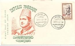 Morocco North-Zone 1957, FDC - Morocco (1956-...)