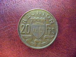 20 Francs REUNION 1955 Bronze Alu - Réunion