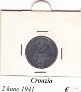CROAZIA  2 KUNE 1941  COME DA FOTO - Croazia