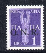 R1467 - RSI 1944 , Posta Aerea N. 121  Senza Gomma - 4. 1944-45 Repubblica Sociale