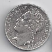 LEOPOLD I  5 Frank  1849    ZEER FRAAI --   -  M15 - 1831-1865: Léopold I.