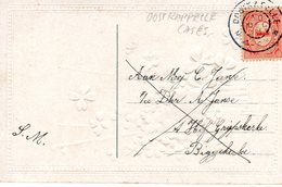 1913 Grootrond OOSTKAPELLE  Op Kaart Naar Biggekerke - Poststempels/ Marcofilie