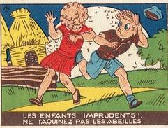 """Image LA VACHE QUI RIT """" Les Enfants Imprudents : Ne Taquinez Pas Les Abeilles ! """" - Alte Papiere"""