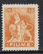 Fiume SG44 1919 Definitive 45c Mounted Mint [12/12632/7D] - 8. Occupazione 1a Guerra