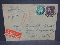 BELGIQUE - Enveloppe Par Exprès De Bruxelles Pour Paris En 1945 - L 6893 - Postmark Collection
