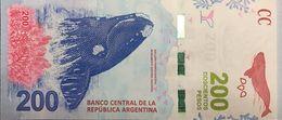 RC) ARGENTINA, 200 PESOS 2016 - 2 PCS NEW UNC (BALLENA FRANCA AUSTRAL) - Argentina