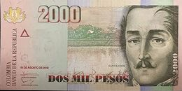 C) COLOMBIA, 2000 PESOS 2012 - 2 PCS NEW UNC - Colombia
