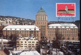 20651 Switzerland, Maximum 1983  Zurich University,  Architecture - Monumenti