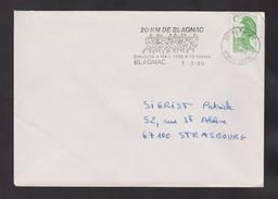 Flamme Dpt 31 : BLAGNAC (SCOTEM N° 10581 Du 01/02 => 04/03/1990) : 20 Km De Blagnac - 10 Mars 1990 - Mechanical Postmarks (Advertisement)