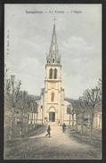 LANGOIRAN Rare Colorisée Le Tourne L'Eglise Pub. DYNAMOS (VP) Gironde (33) - Autres Communes