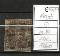 1860 GOVERNO PROVVSORIO 10c  Usato N. 19 - Toscane