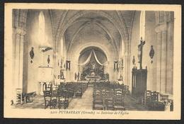 PUYBARAN Intérieur De L'Eglise (Gautreau) Gironde (33) - Autres Communes