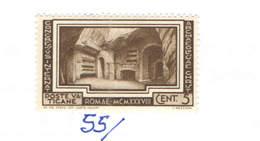 Vaticano 1938 Congresso Int.Arch.Cristiana N.1 Valore Nuovo Scott.55 See Scan - Nuovi