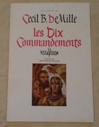 Programme Cinéma - Les Dix Commandements Avec Yul Brunner - 24 X 31 Cm - - Other Collections