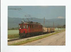 ENTRE TRELEX ET ASSE 139 CH DE FER NYON-ST CERGUE-MOREZ (N ST C M) TRAIN DE MARCHANDISES TRACTANT QUATRE WAGONS DE BOIS - VD Vaud