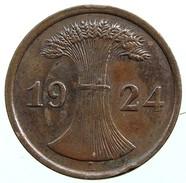German Empire 2 Reichspfennig 1924 (A) - 2 Rentenpfennig & 2 Reichspfennig