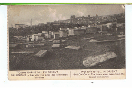CPA-1918-GRECE-SALONIQUE-LA VILLE-VUE PRISE DES CIMETIÈRES ISRAELITES- - Grèce