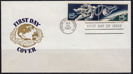 A0750 USA 1967, SG 1311-2 US Space Achievements,  FDC - Lettres & Documents