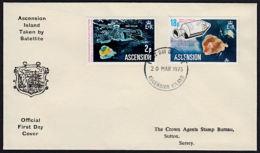 A1007 ASCENSION 1975, SG 185-6 Space Satellites  FDC - Ascension (Ile De L')