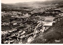 01----RARE---GENISSIAT---agglomération Et Barrage--vue Aérienne---voir 2 Scans - Génissiat