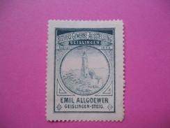 Vignette ;  Bezirks Gewerbe Ausstellung  Geislingen 1898  Emil Allgoewer   (à Voir ) - Erinnophilie