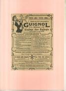 FRANCE . REVUE GUIGNOL  . PUB  DES ANNEES 1920  . DECOUPEE ET COLLEE SUR PAPIER . - Publicidad