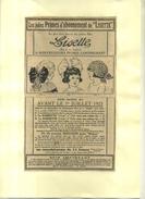 FRANCE . REVUE LISETTE  . PUB  DES ANNEES 1920  . DECOUPEE ET COLLEE SUR PAPIER . - Pubblicitari