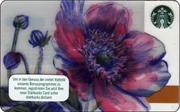 """Germany  Starbucks Card """"Flower"""" 2016-6135 - Gift Cards"""