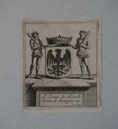 Ex-libris Héraldique Belge  XVIIIème - Le Comte De Hasselt, Baron De Jamoigne Etc... - Ex Libris