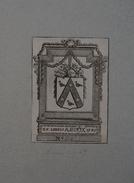 Ex-libris Héraldique Belge  XVIIIème - Antoine DIRIX (Anvers) - 1785 - Ex Libris