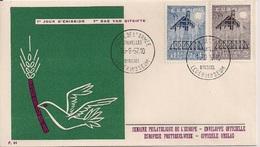 1957 Belgien   Mi. 1070-1  FDC - Europa-CEPT