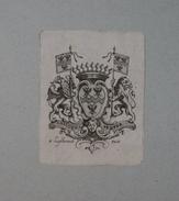 Ex-libris Héraldique Belge  XVIIIème - De VOOGHT ( Bruges) - Ex Libris