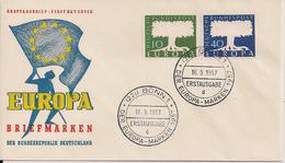 1957 Deutschland  Germany   Mi. 268-9 FDC - Europa-CEPT