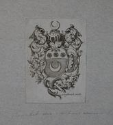 Ex-libris Héraldique Belge  XVIIIème - De POTTER (Gand) - Ex Libris