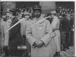 Portrait De L'officier Français Dinah Salifou Fils De Behenzin Roi Des Malous 1 Photo 1914-1918 14-18 Ww1 1wk - War, Military