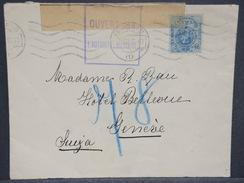 ESPAGNE - Enveloppe De Madrid Pour La Suisse En 1915 Avec Contrôle Postal Militaire Français - L 6934 - Cartas