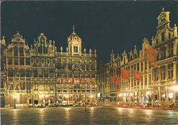 BRUXELLES-BRUSSEL. Grand'Place, Le Roi D'Espagne, La Brouette, Le Sac  (scan Verso) - Brussel Bij Nacht