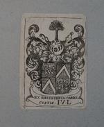 Ex-libris Héraldique Belge  XVIIIème - Carolis CUSTIS - Ex Libris