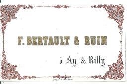 AY  F BERTAULT& RUIN à AY &  RILLY ,  LItho BARBAT - Champagne