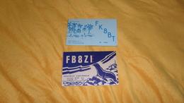 LOT DE 2 CARTES QSL. / FB8ZE NOUVELLE AMSTERDAM / FK8BT PORO NOUVELLE CALEDONIE. - Radio Amateur
